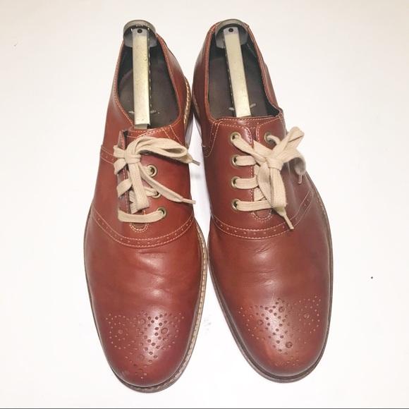 Men's Cole Haan Cognac Leather Oxford Wingtip
